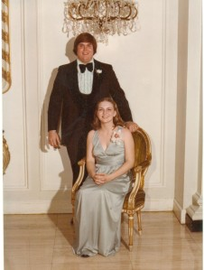 Mr. Lee and Ms. Karen attending a fraternity formal from their years at LSU.
